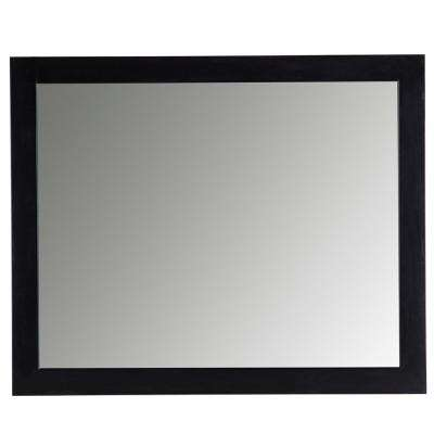 Austell 31 in. x 26 in. Wall Mirror in Black