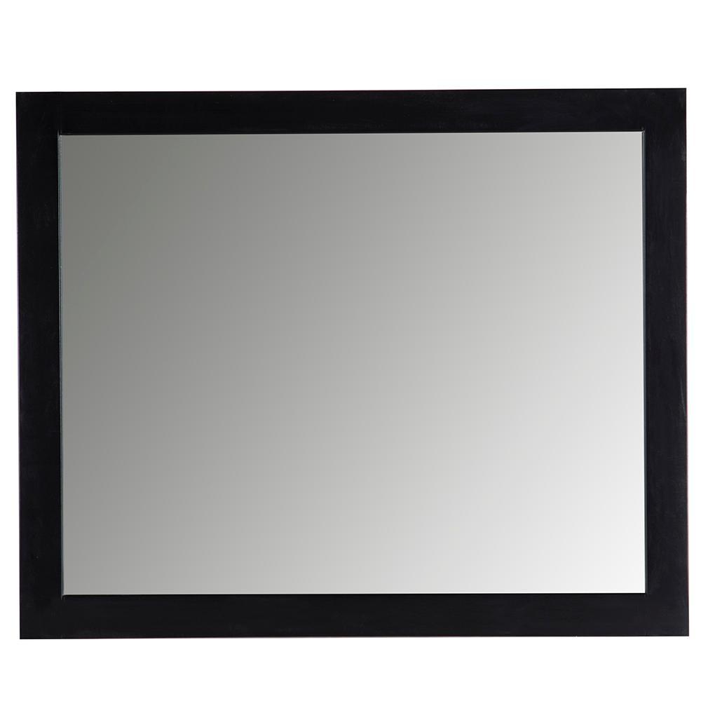 Austell 31 in. x 26 in. Wall Mirror in Black