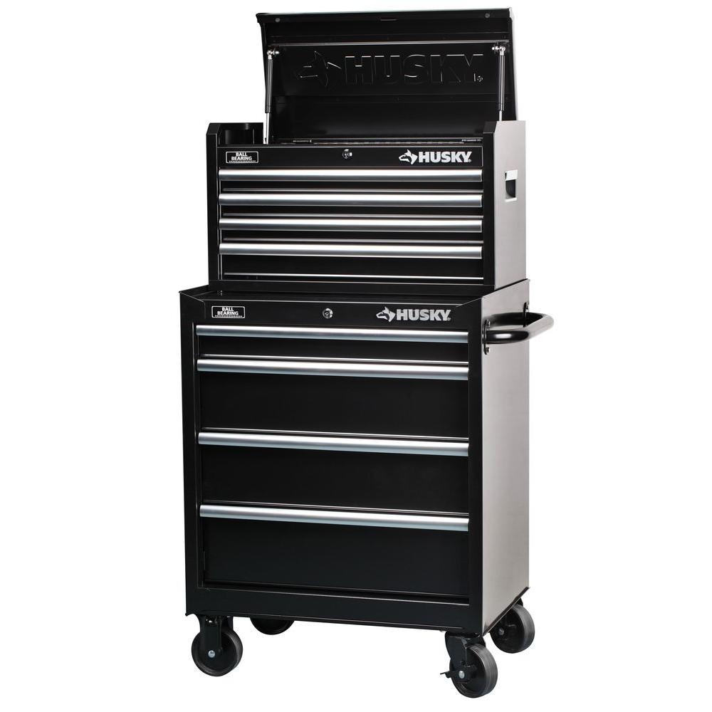 Husky 27 In 8 Drawer Tool Chest And Cabinet Set H4ch1r H4tr1r The Home Depot