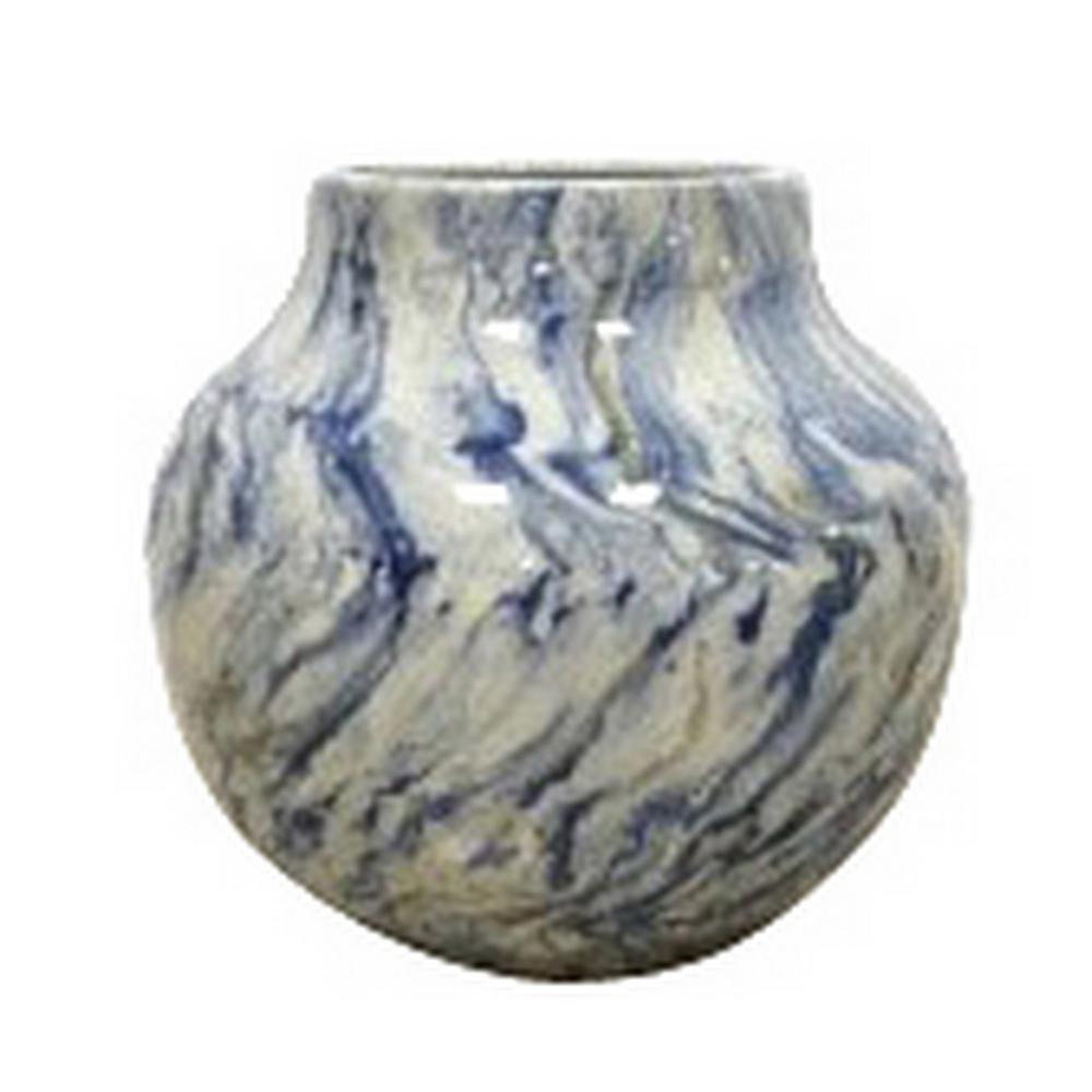 8.5 in. Blue Ceramic Vase
