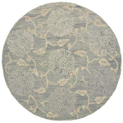 Dazzle Light Blue Round 6 ft. Indoor Area Rug