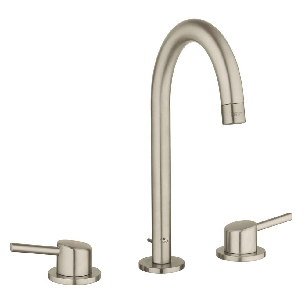 GROHE Concetto 8 in. Widespread 2-Handle 1.2 GPM Bathroom Faucet ...