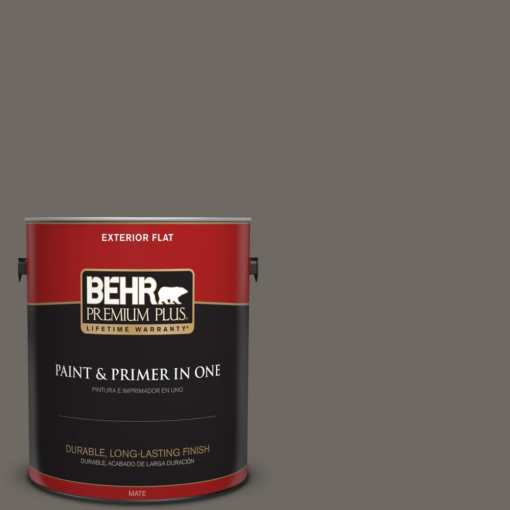 1 gal. #PPU24-04 Burnished Pewter Flat Exterior Paint