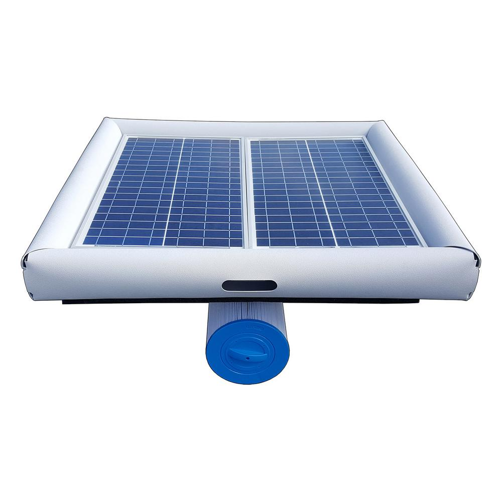 Solar Ed Pool Pump With Floating Cartridge Filter System For In Ground And Above Pools