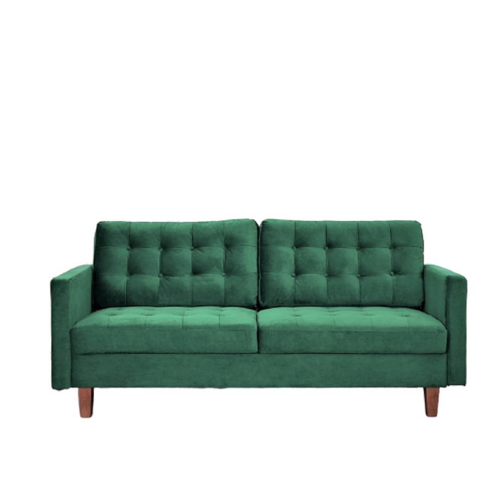 Sophia Green Tufted Velvet Sofa