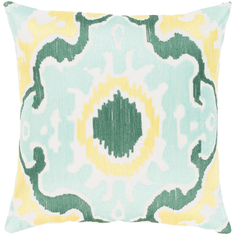 Garis Green Graphic Polyester 20 in. x 20 in. Throw Pillow