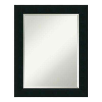 Corvino Black Wood 23 in. x 29 in. Contemporary Bathroom Vanity Mirror
