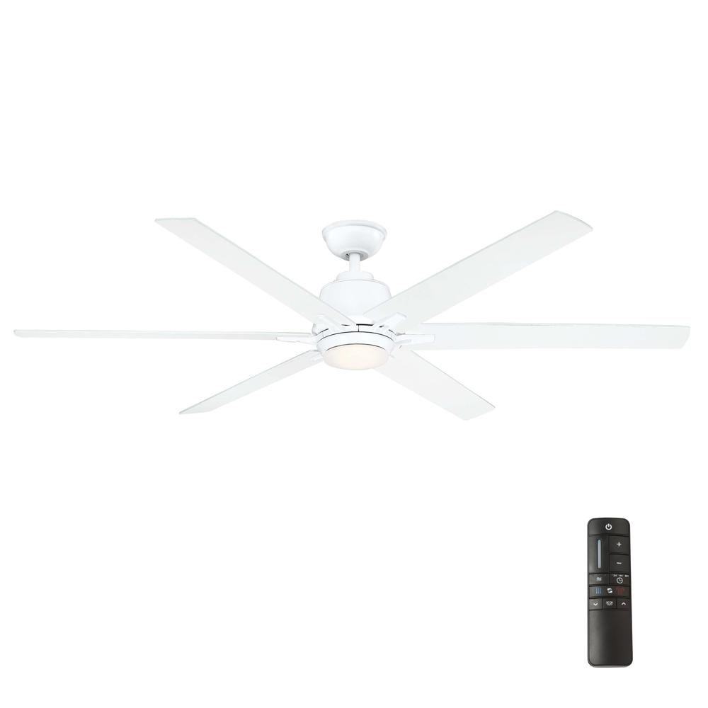 Home Decorators Collection Kensgrove 64 in. LED White Ceiling Fan with Remote Control was $249.0 now $199.0 (20.0% off)