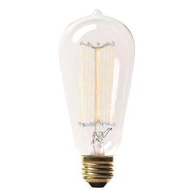 60-Watt Incandescent S19 Light Bulb (3-Pack)