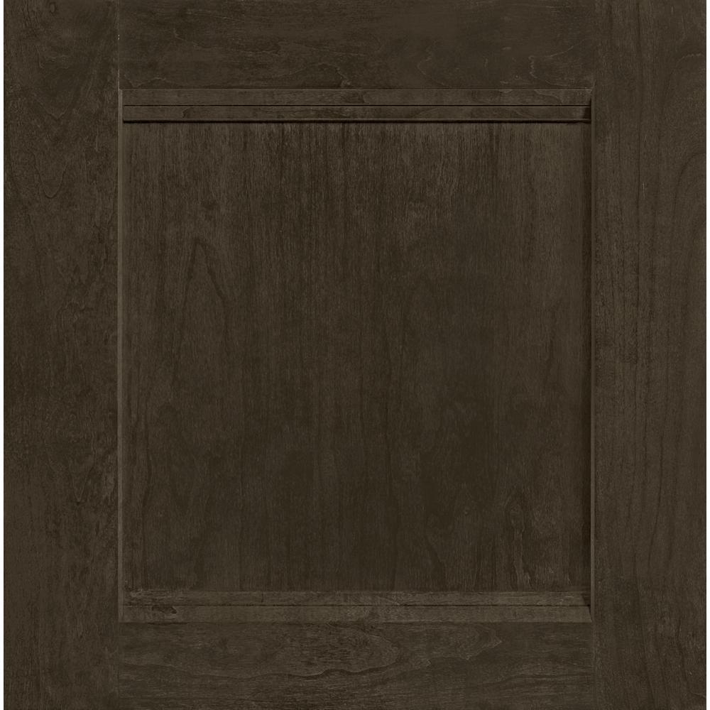 14-9/16 in. x 14-1/2 in. Cabinet Door Sample in Del Ray Cherry Slate