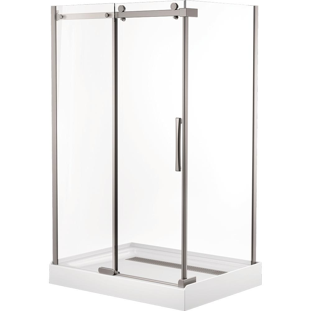 Delta 36 In. X 48 In. X 72 In. Frameless Sliding Shower