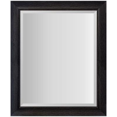 24 in. x 30 in. Scoop Framed Beveled Rectangular Blackwash Decorative Mirror