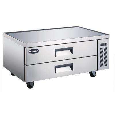 52 in. W 10.5 cu. ft. Commercial Chef Base Refrigerator in Stainless Steel