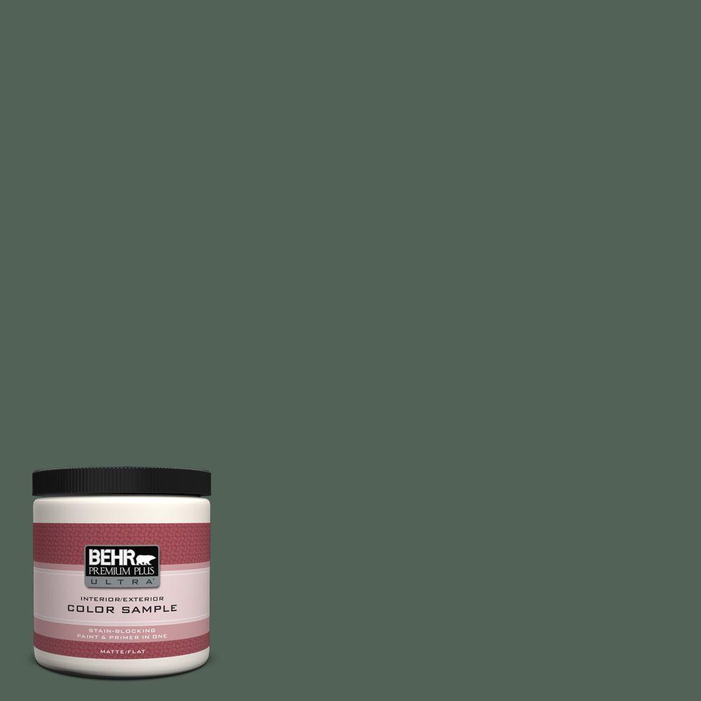BEHR Premium Plus Ultra 8 oz. #460F-6 Medieval Forest Interior/Exterior Paint Sample