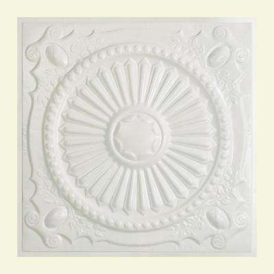 Toronto 2 ft. x 2 ft. Lay-in Tin Ceiling Tile in Matte White