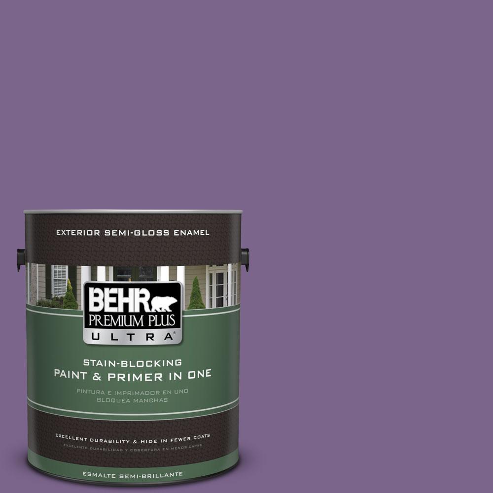 BEHR Premium Plus Ultra 1-gal. #M570-6 Notorious Semi-Gloss Enamel Exterior Paint