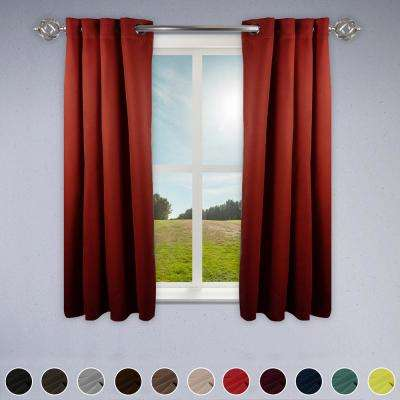 Heavy Duty Drapery 52 in. W x 63 in. H Panel in Red