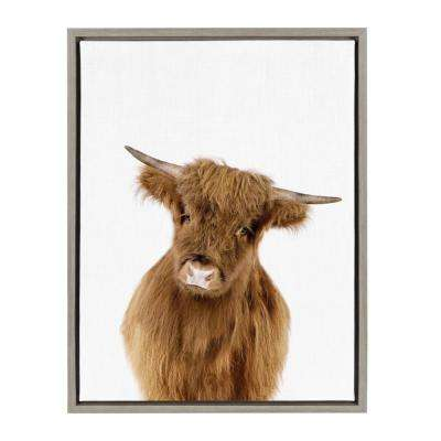 "Sylvie ""Animal Studio Highland"" by Amy Peterson Framed Canvas Wall Art"