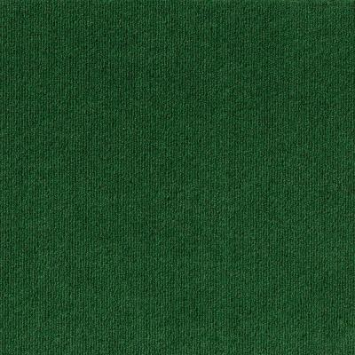 Peel and Stick Heather Green Ribbed 18 in. x 18 in. Residential Carpet Tile (16 Tiles/Case)