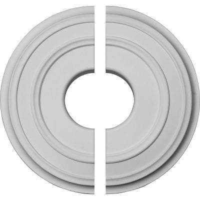 12-3/8 in. O.D. x 4 in. I.D. x 1-1/8 in. P Classic Ceiling Medallion (2-Piece)