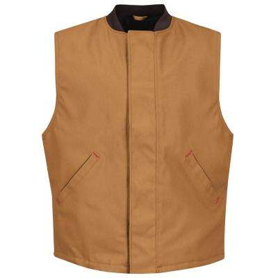 Men's 3X-Large Brown Duck Blended Duck Insulated Vest