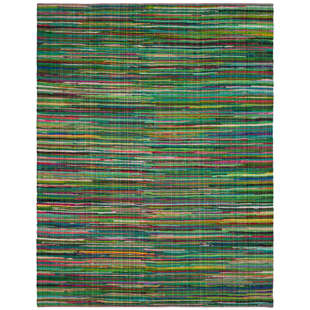 Safavieh Rag Rug Turquoise Multi 8 Ft X 10 Ft Area Rug: Safavieh Rag Rug Green/Multi 8 Ft. X 10 Ft. Area Rug