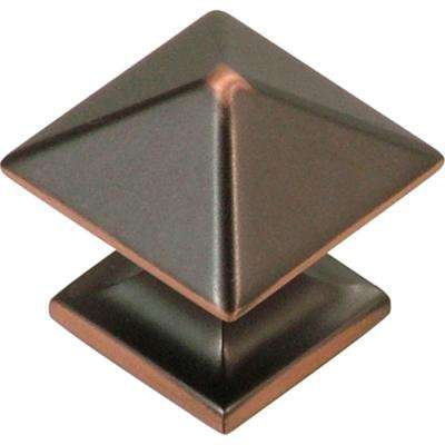 Studio Collection 1 in. Oil-Rubbed Bronze Highlighted Cabinet Knob