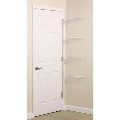 Clutterbuster White Bar 1-Hook Rack
