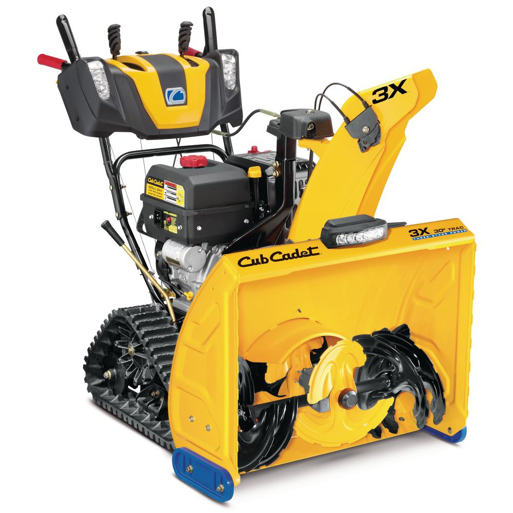 Cub Cadet 3X 30 in. 420 cc Track Drive Three-Stage Snow Blower with Electric Start Gas Steel Chute Power Steering Heated Grips