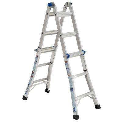 14 ft. Reach 5-in-1 Telescoping Multi-Ladder with 375 lbs. Load Capacity Type IAA Duty Rating