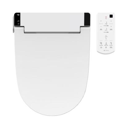 Waterjet Electric Bidet Seat for Elongated Toilet in White with Remote Control