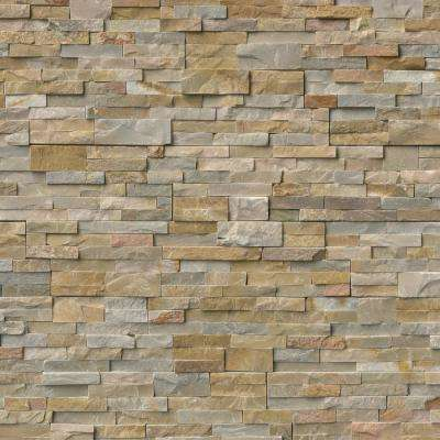 Golden Honey Ledger Panel 6 in. x 24 in. Natural Quartzite Wall Tile (6 sq. ft. / case)