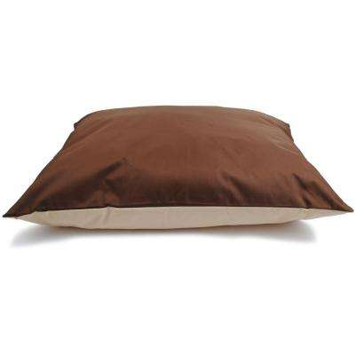 30 in. x 40 in. Brown/Tan Chew Resistant Pet Bed