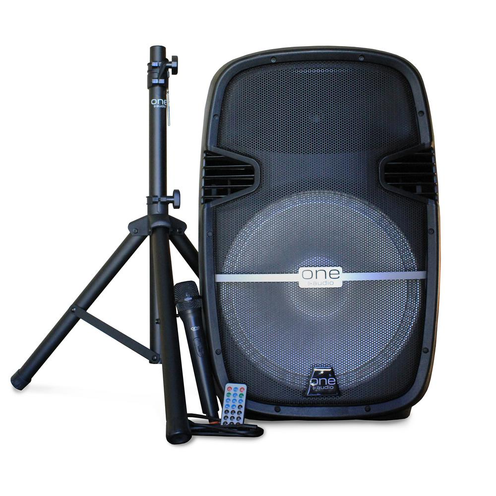 Surge DJ System/15 in. BT Party Speaker Set with Rechargeable Battery,