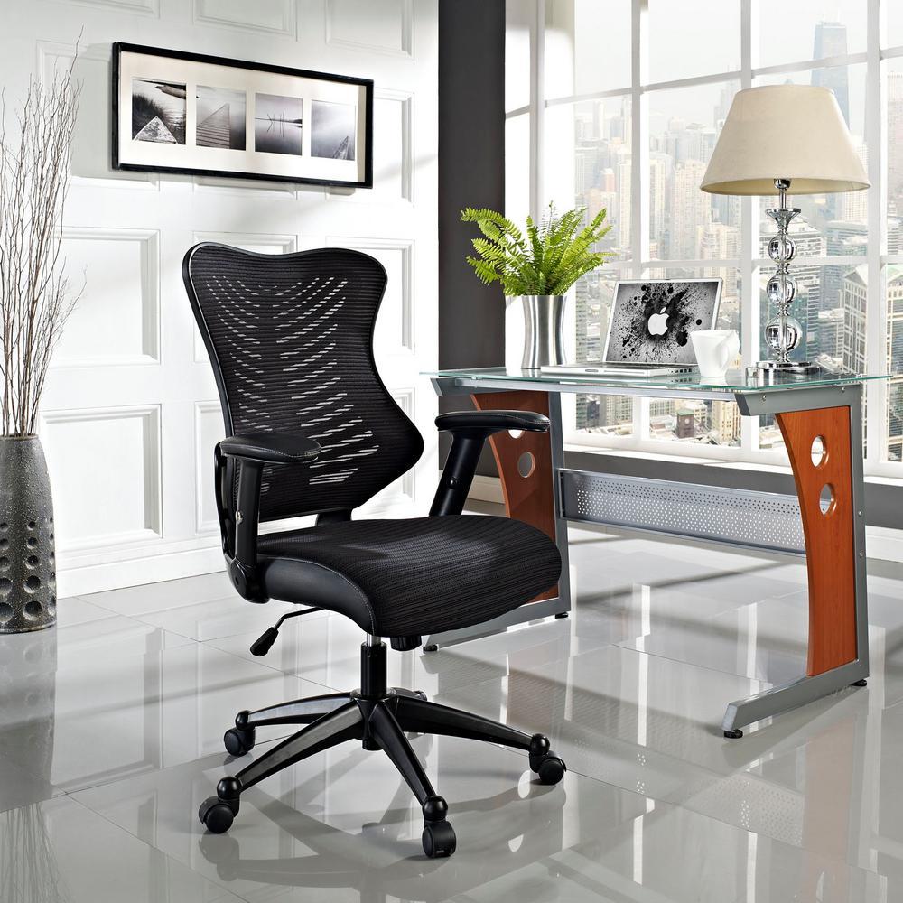 MODWAY Clutch Office Chair in Black EEI-209-BLK