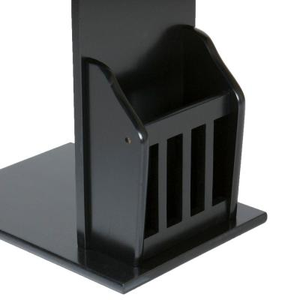 Black Storage End Table