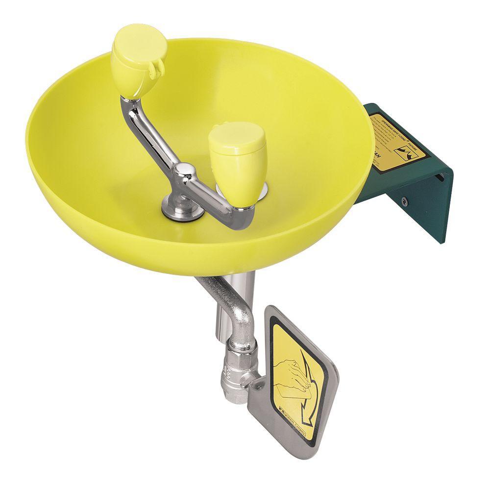 Speakman Eyesaver Eyewash with Round Yellow Plastic Bowl