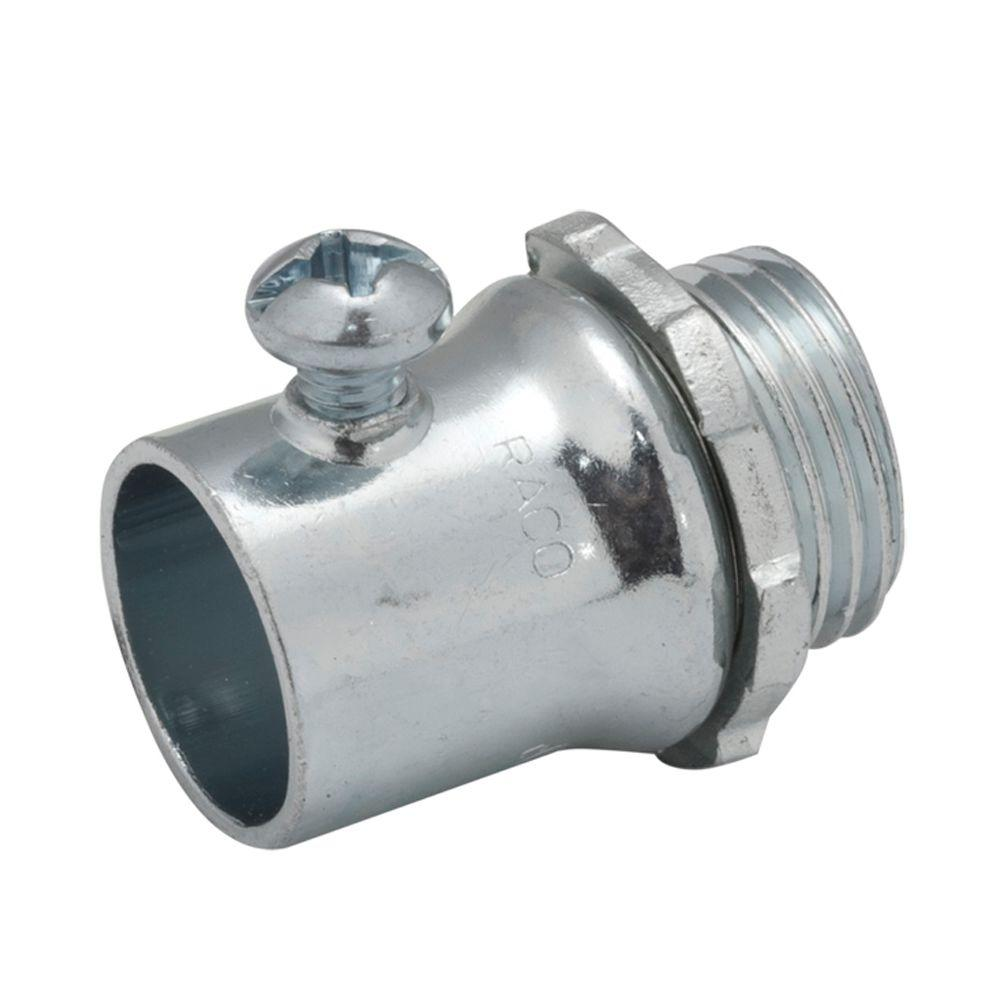 Raco emt in uninsulated set screw connector the