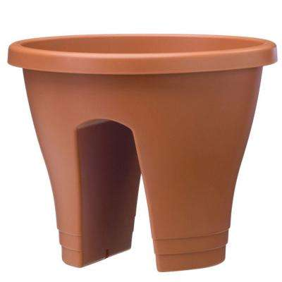 11 in. Terra Cotta Flower Bridge Planter (Set of 2)