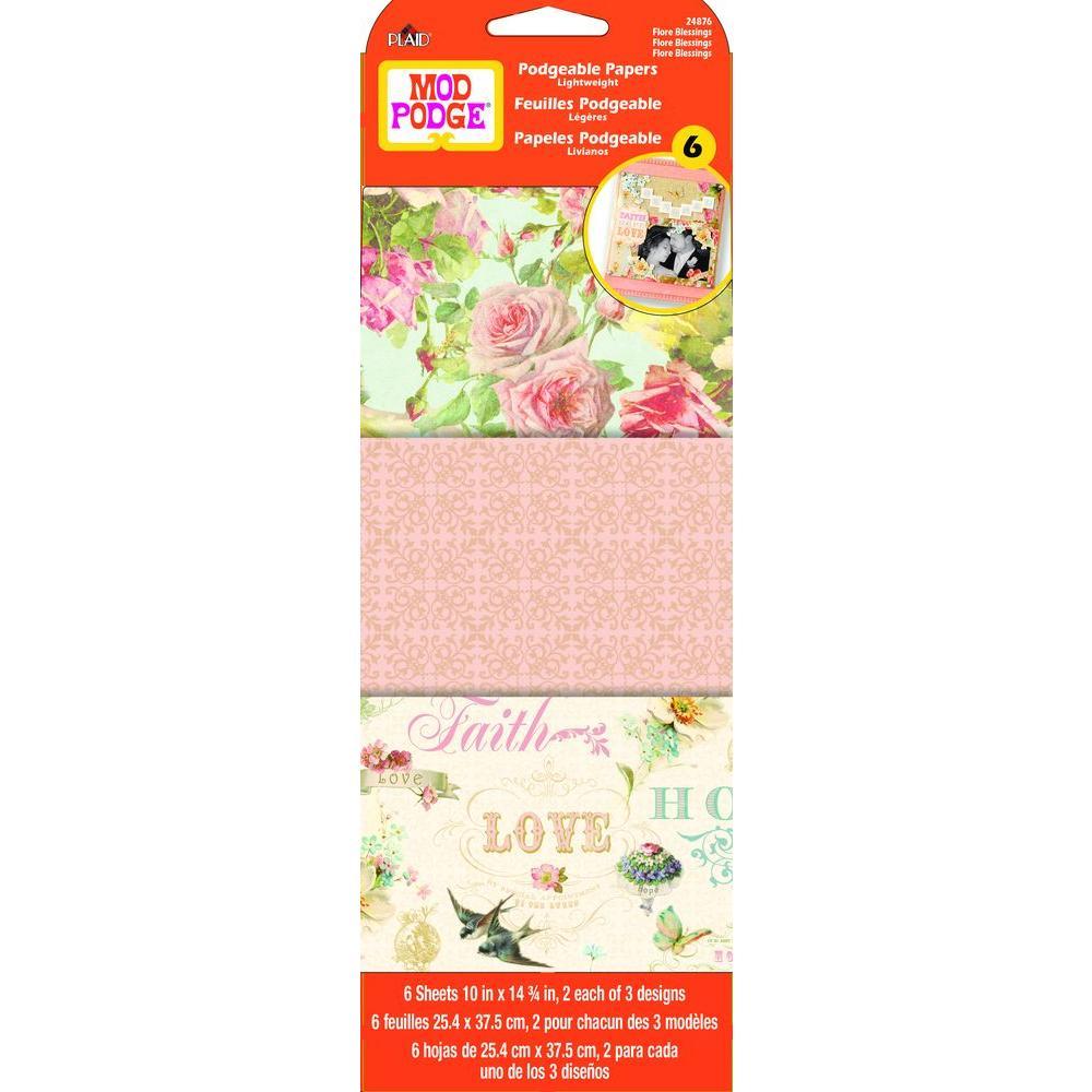 Mod Podge 6 Sheet Paper Flore Blessing