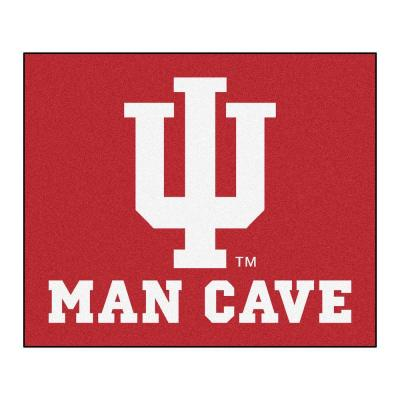 Indiana University Red Man Cave 5 ft. x 6 ft. Area Rug