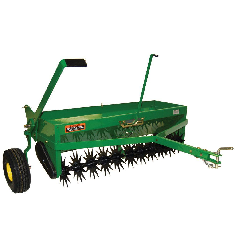 Tow Behind Combination Aerator Spreader