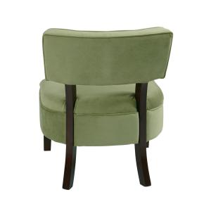Swell Osp Home Furnishings Curves Spring Green Velvet Accent Chair Caraccident5 Cool Chair Designs And Ideas Caraccident5Info