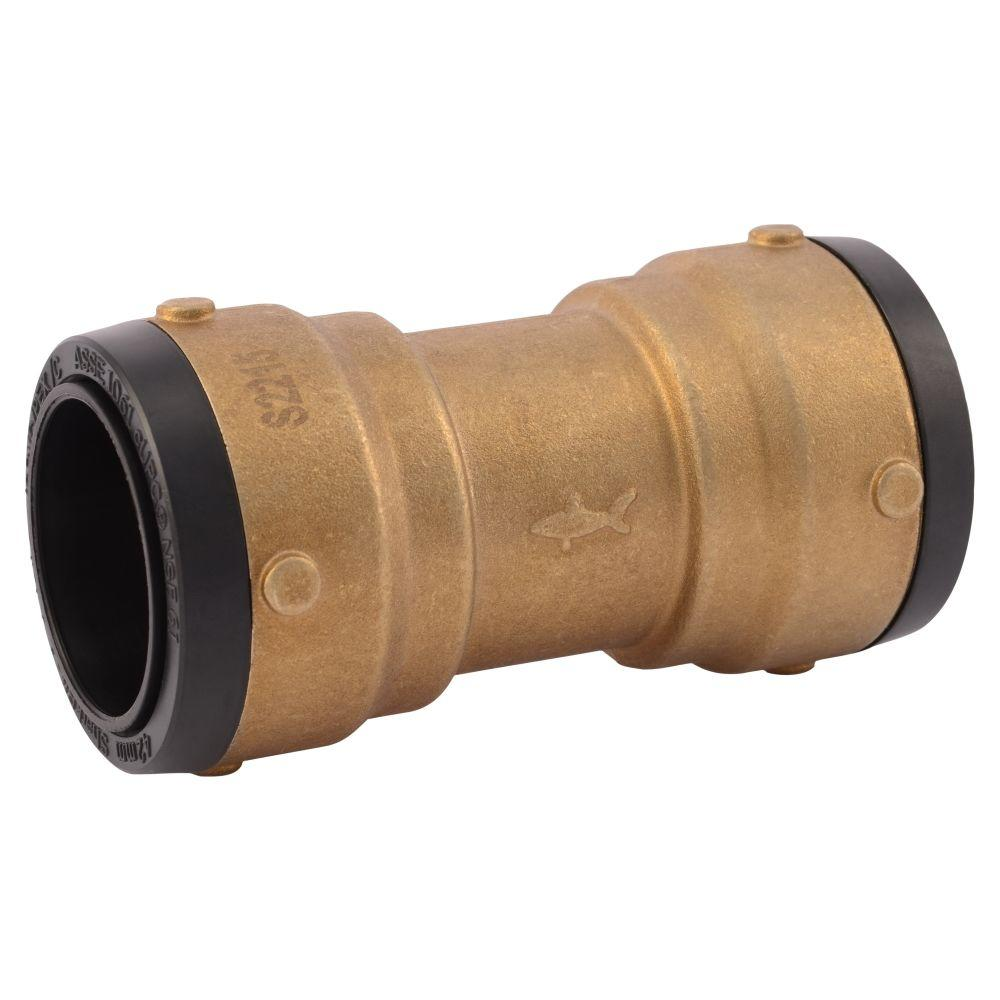 1-1/2 in. Brass Push-to-Connect Coupling