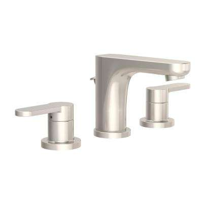 Identity 8 in. Widespread 2-Handle Bathroom Faucet with Pop-Up Drain Assembly in Satin Nickel