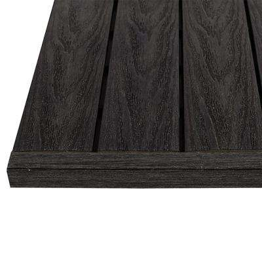 1/6 ft. x 1 ft. Hawaiian Charcoal Quick Deck Composite Deck Tile Straight End Fascia (4-Piece/Box)