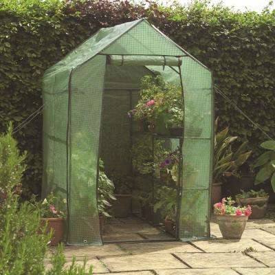 6 ft. 3 in. L x 4 ft. 1 in. D x 6 ft. 3 in. H Includes Shelving Walk-In Greenhouse