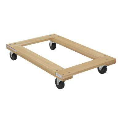 1200 lbs. 24 in. x 36 in. Hardwood Dolly Open Deck