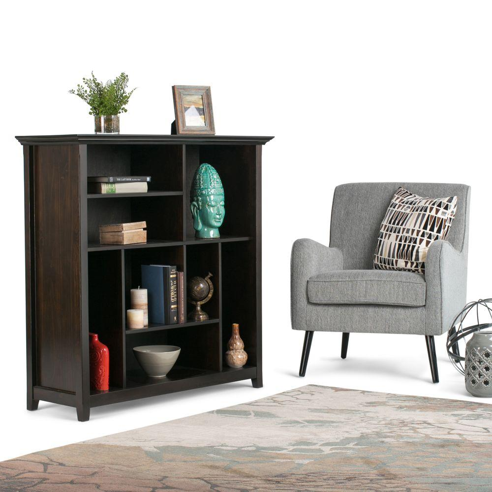 Perfect Amhearst Dark Brown Open Bookcase