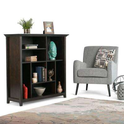 Amhearst Dark Brown Open Bookcase
